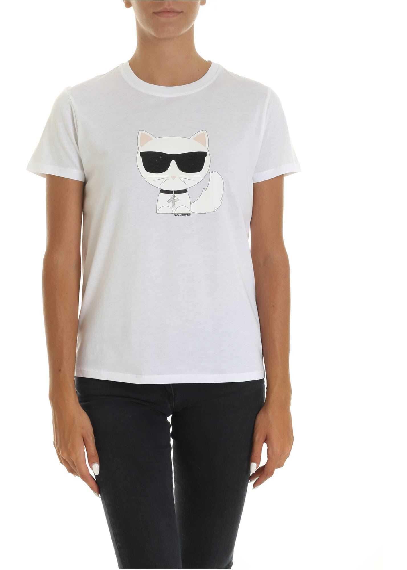 Ikonik Choupette T-Shirt In White thumbnail