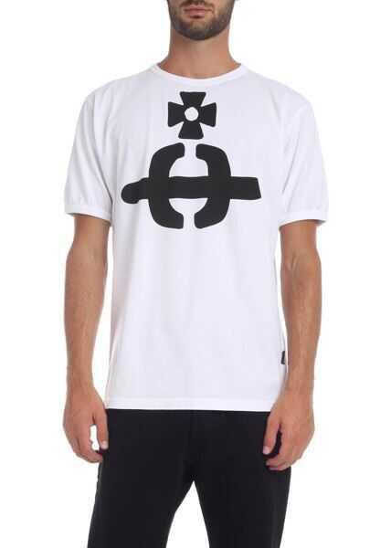 Tricouri Barbati Vivienne Westwood Anglomania Orb T-Shirt In White