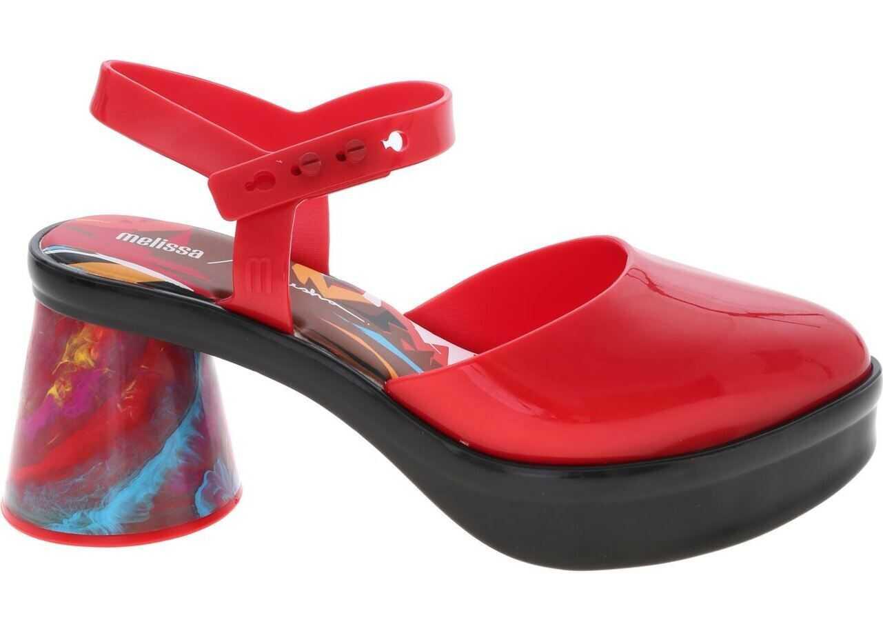 Melissa Revolution + Fiorella Sandals In Red thumbnail