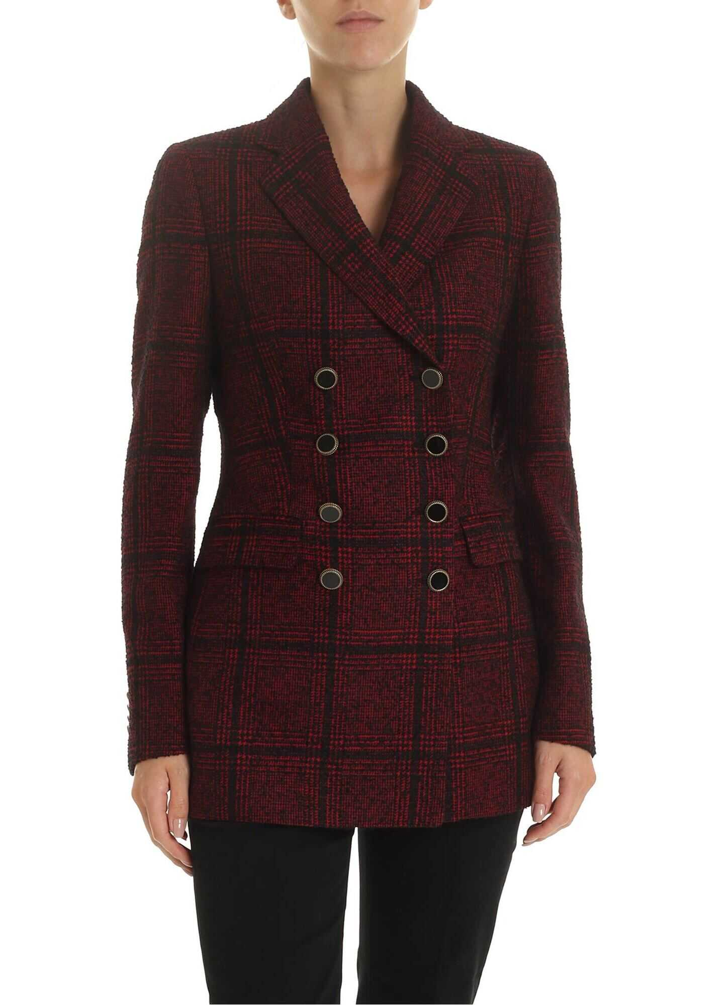 Double-Breasted Jacket Alyx In Red Tartan thumbnail