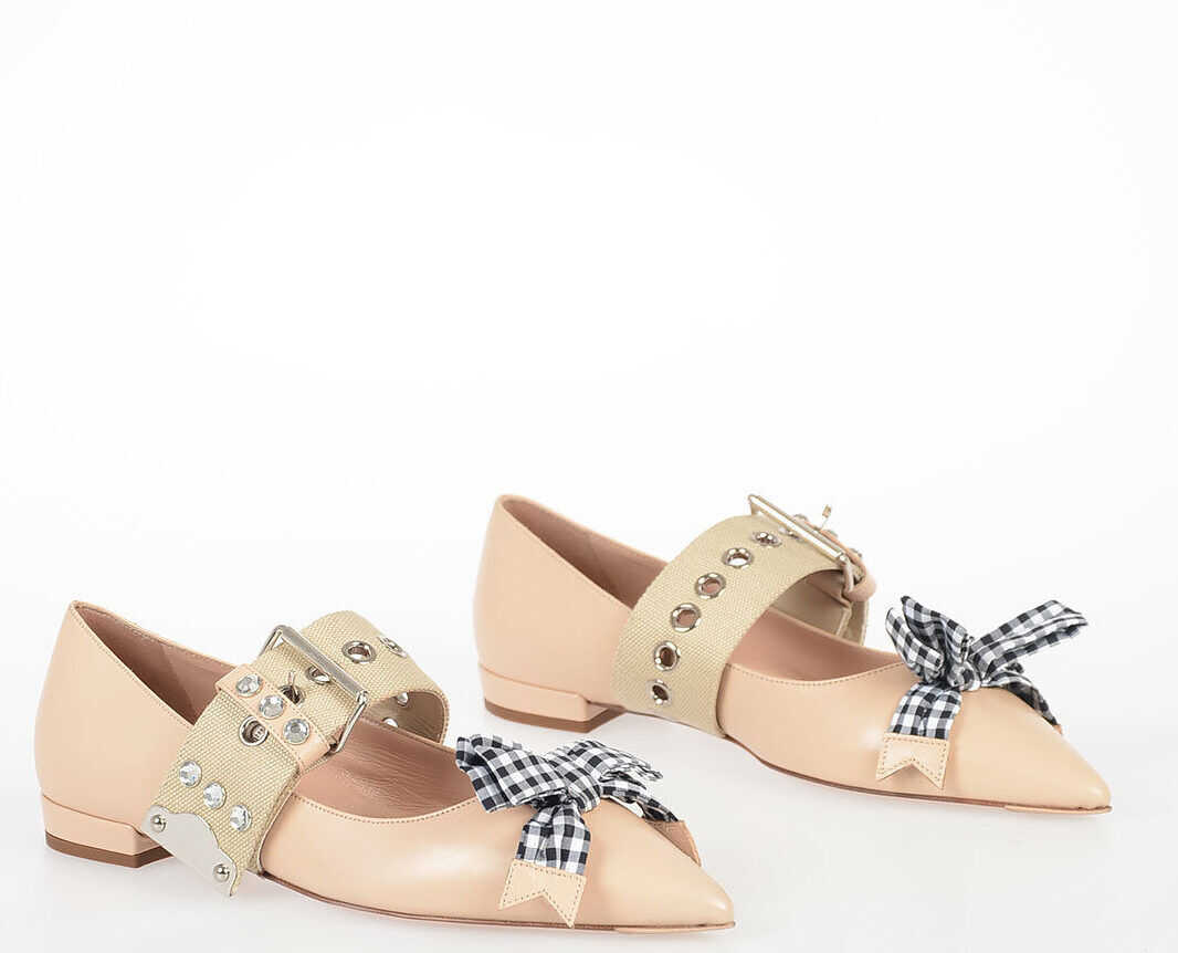 Leather Ballet Flat With Bow thumbnail