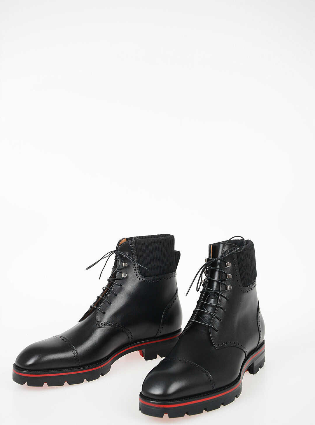 Christian Louboutin Leather Ankle Boots BLACK