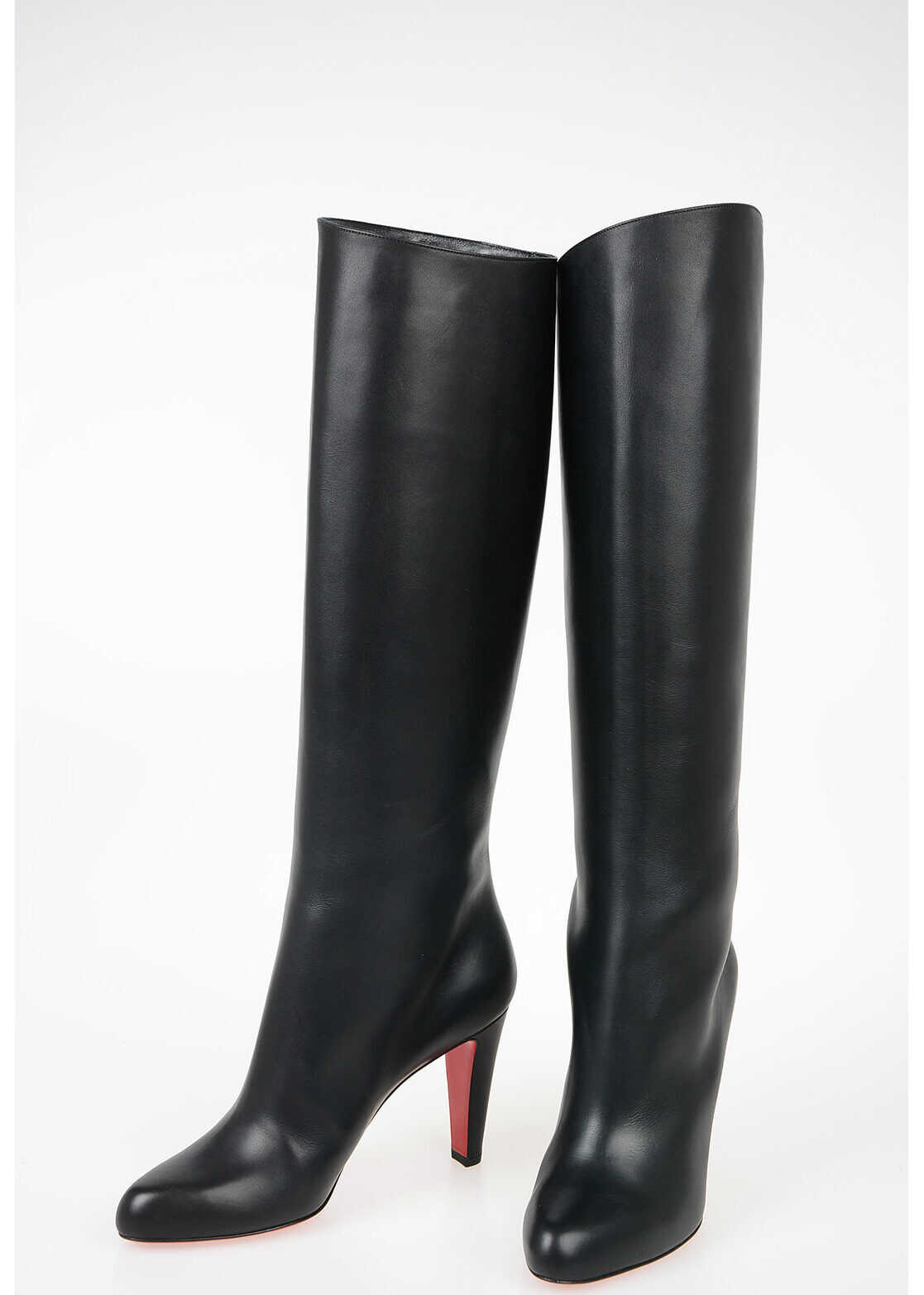 Christian Louboutin 9cm Leather Boots BLACK