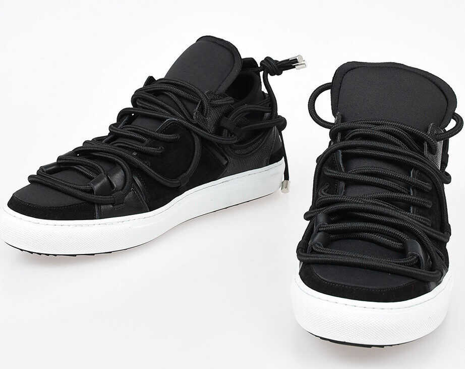 DSQUARED2 Leather BUNGY JUMP Sneakers BLACK