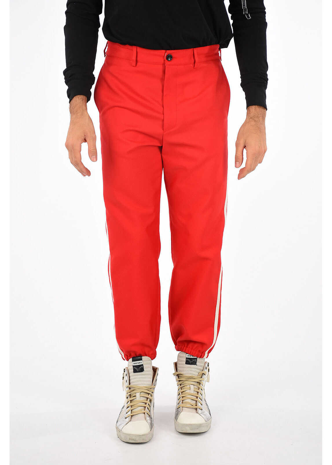 Gucci Embroidered Pants RED