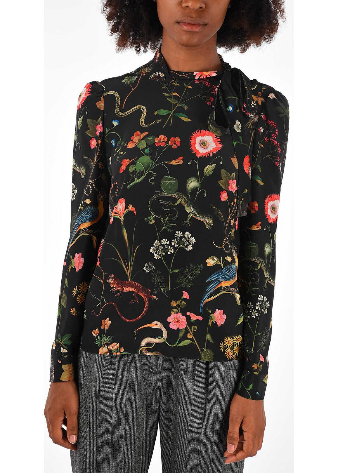 Silk Floreal Blouse