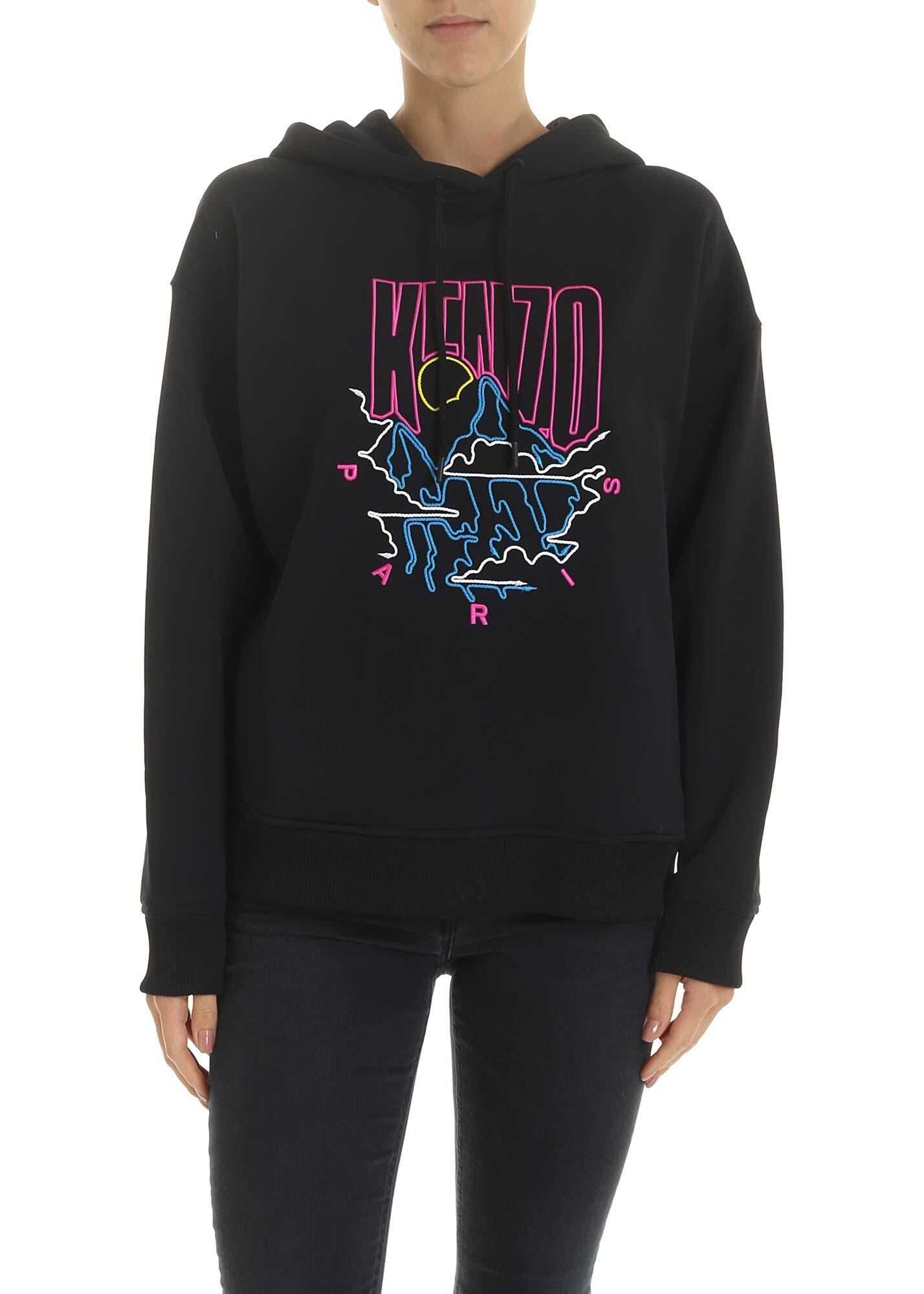 Kenzo Mountain Cords Sweatshirt In Black Black