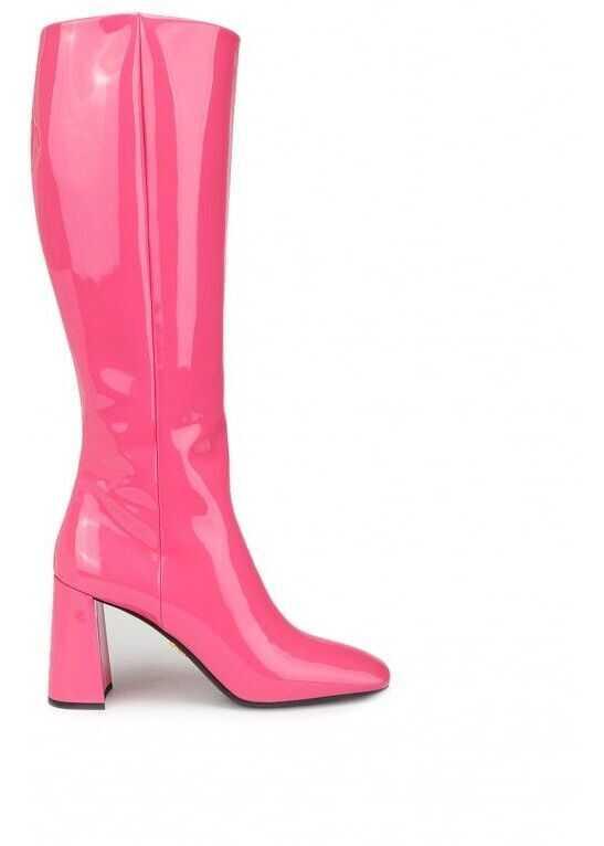 Prada Leather Boots PINK