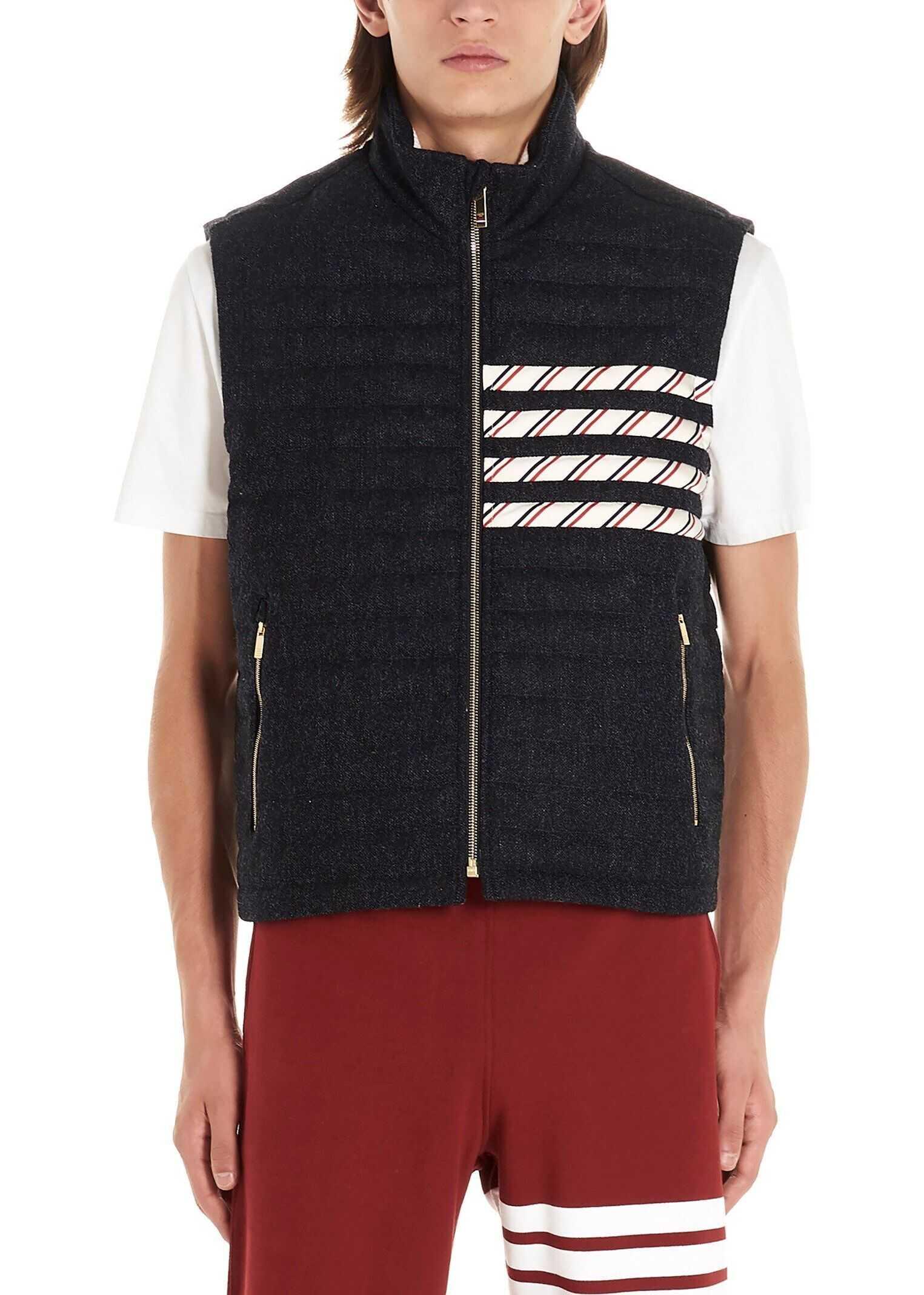 Thom Browne Wool Vest BLUE