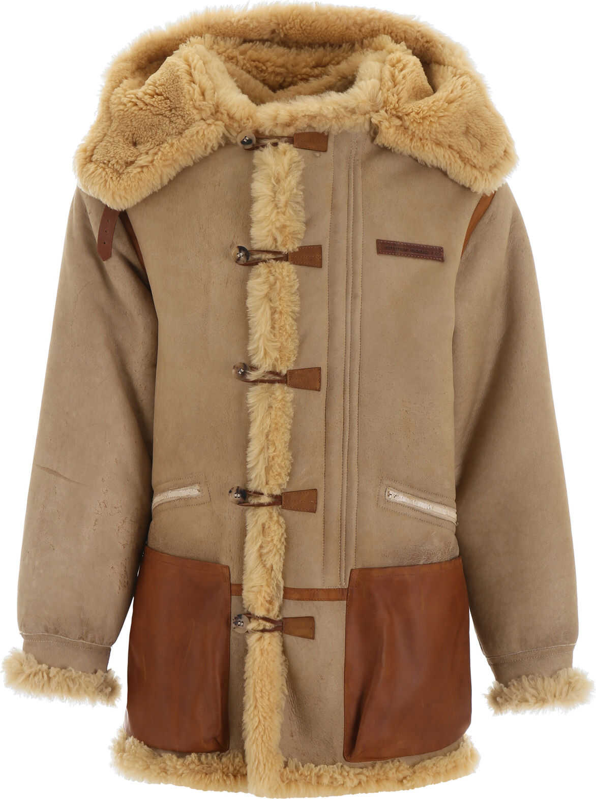 Golden Goose Toru Duffle Coat NATURAL WHITE BROWN