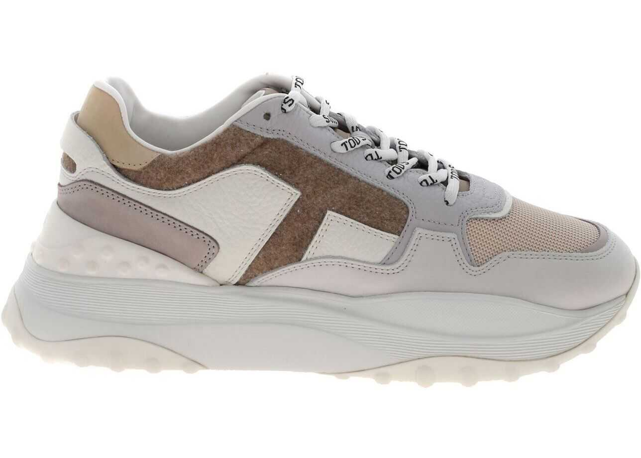 45B Sneakers In White And Beige Color thumbnail