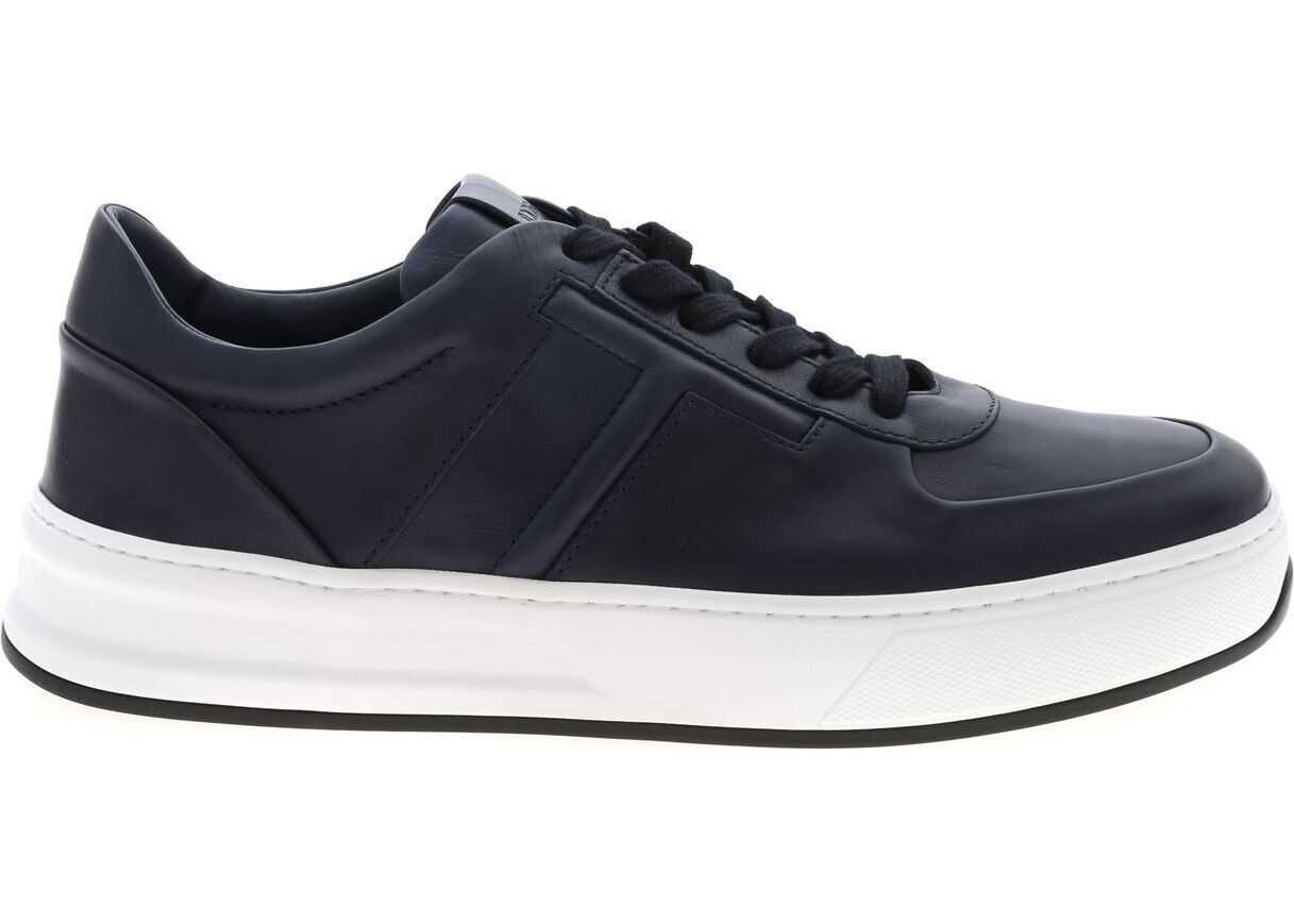 Blue Sneakers With Embossed Logo thumbnail