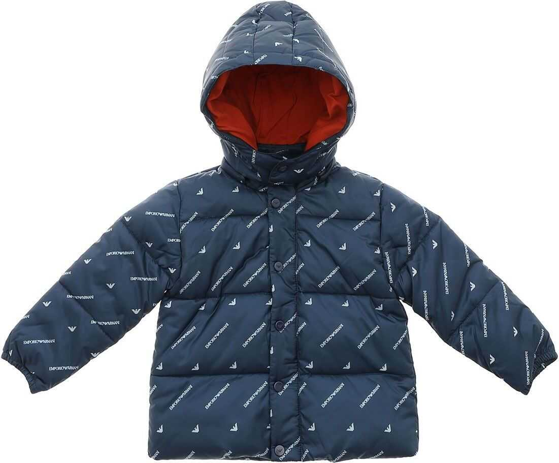 Blue Branded Down Jacket thumbnail