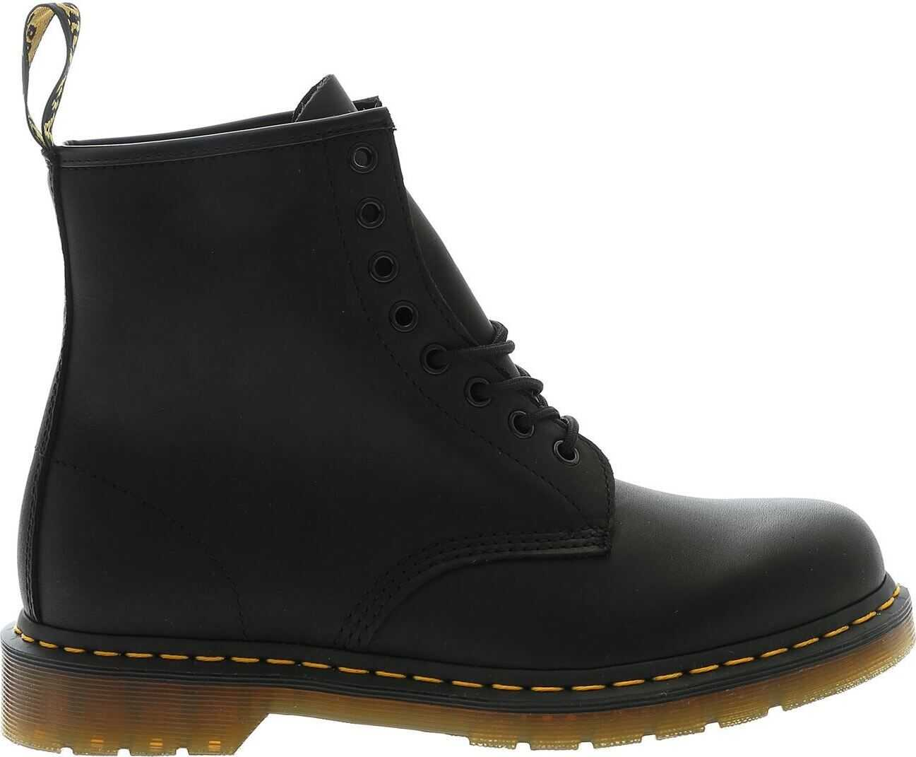 Dr. Martens 1460 Greasy Boots In Black Black