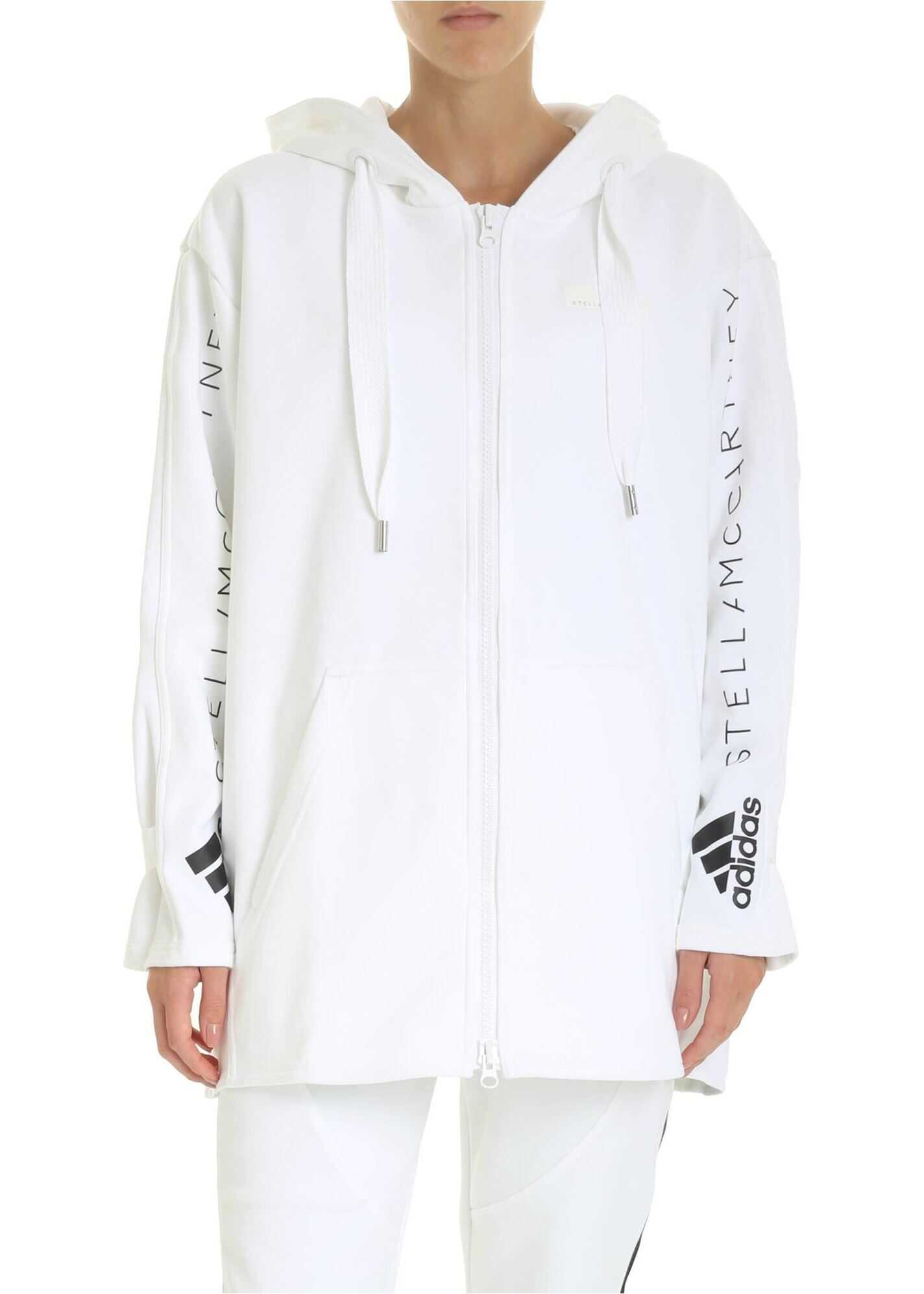 adidas by Stella McCartney Oversized Hood Sweatshirt In White White