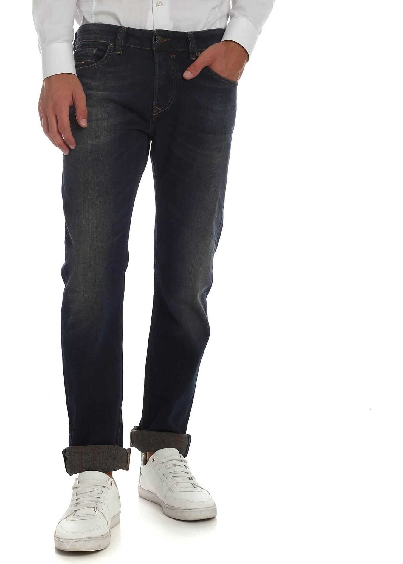 Diesel Safado Jeans In Dark Blue Color Blue