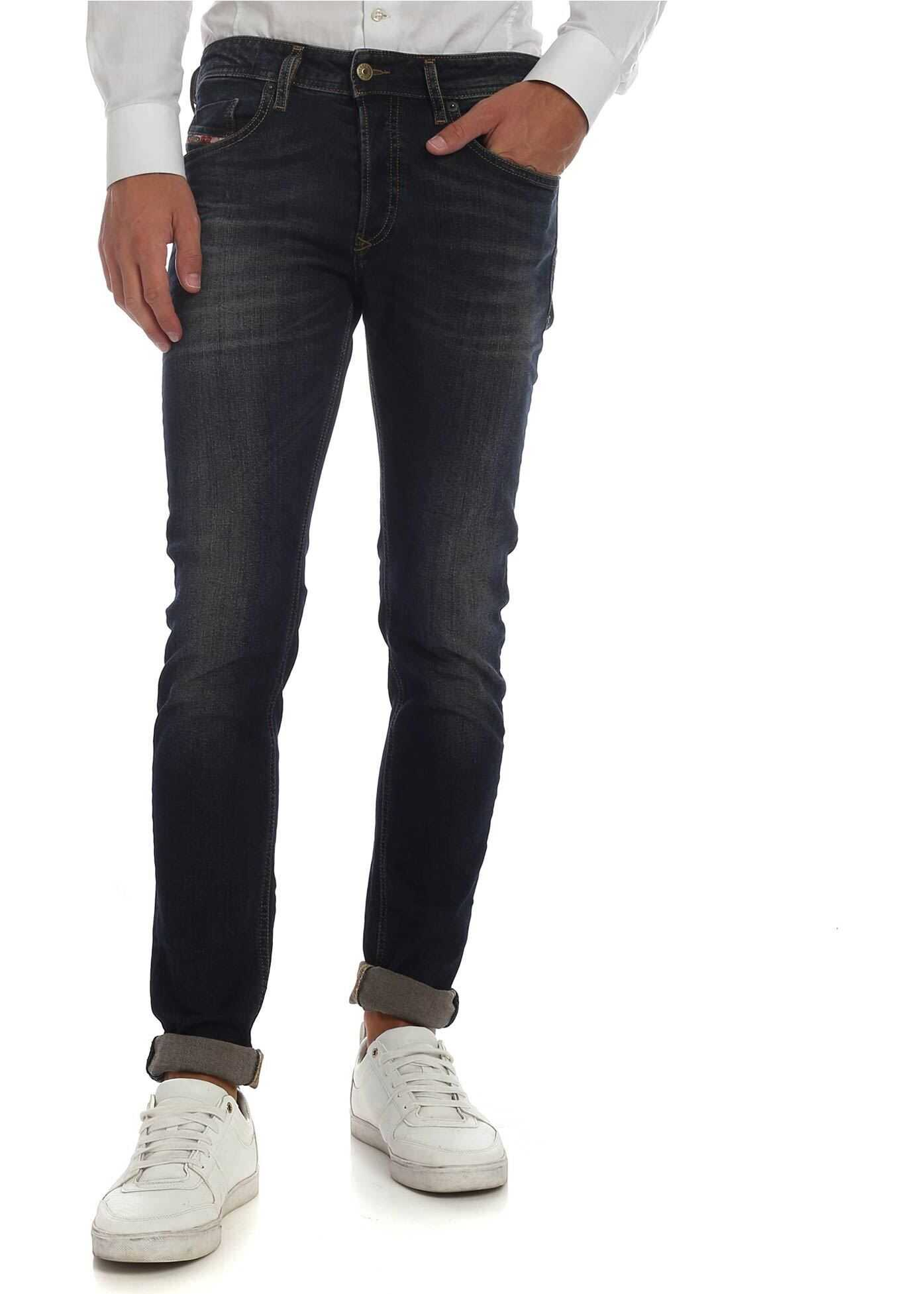 Diesel Sleenker X Jeans In Dark Blue Blue