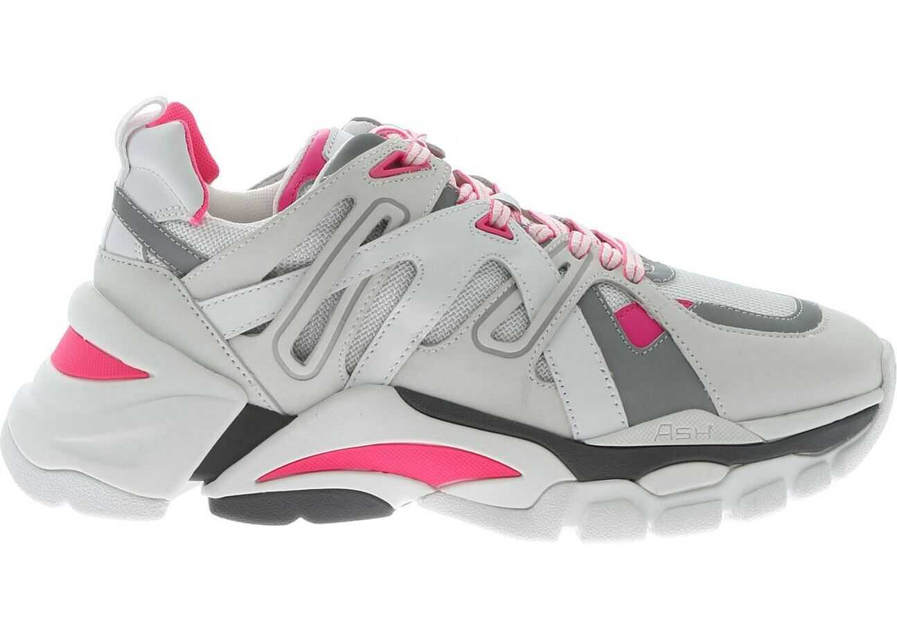 Flash Sneakers In White And Fuchsia thumbnail
