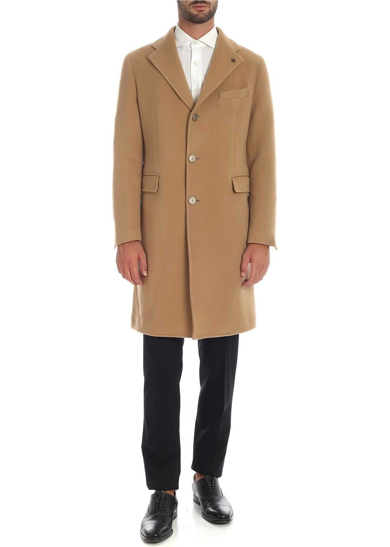 Single-Breasted Coat In Beige Color thumbnail
