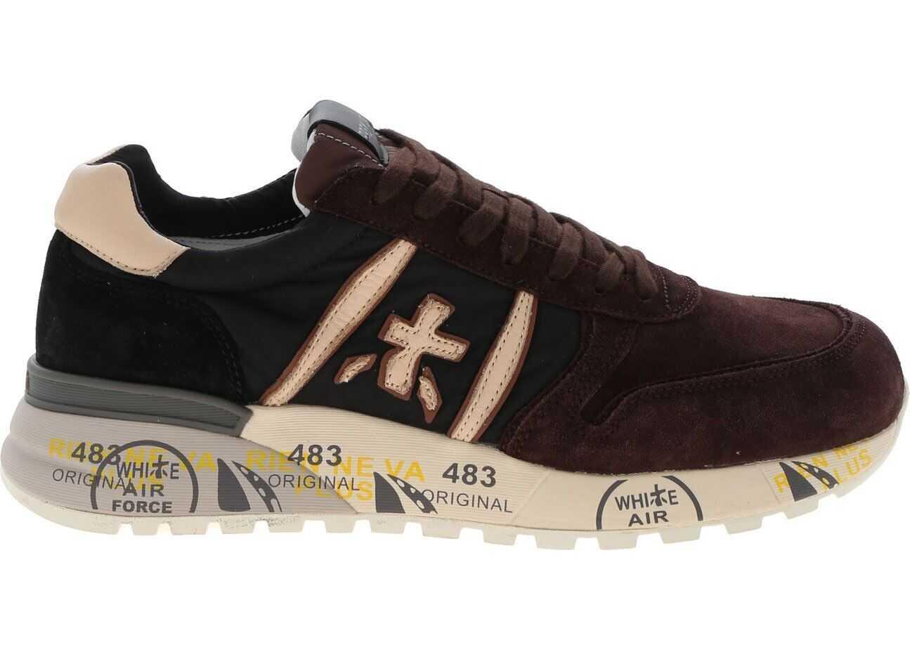 Lander Sneakers In Brown And Black thumbnail