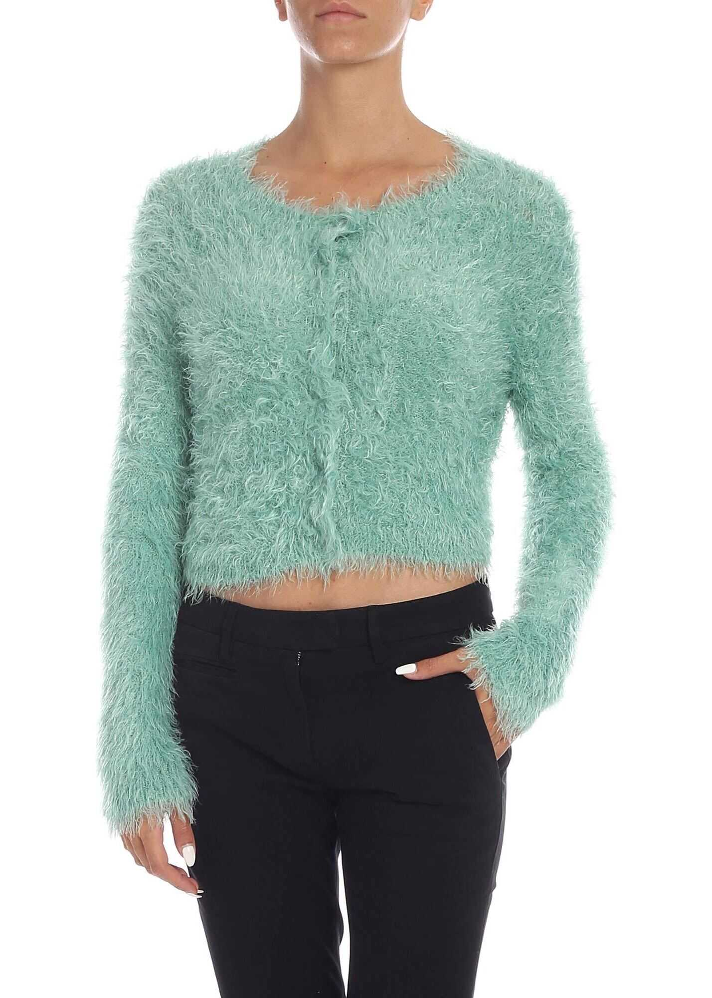 Ucraino Cardigan In Aquamarine Color thumbnail