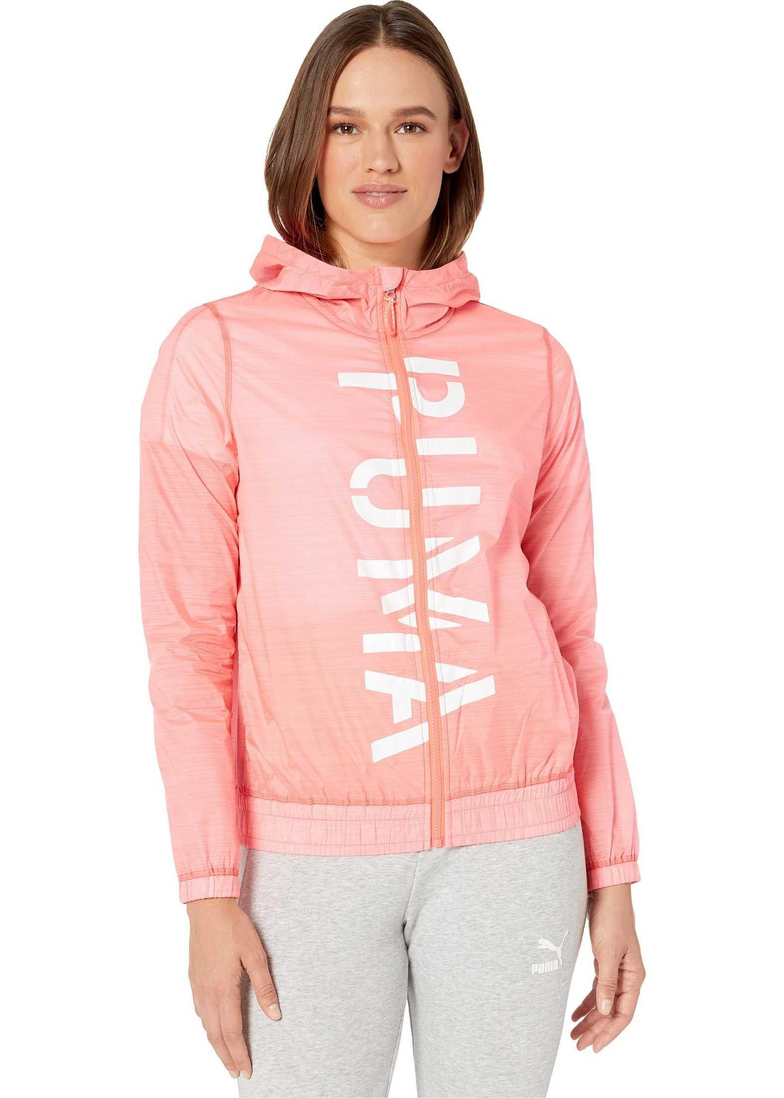 PUMA Be Bold Graphic Woven Jacket Pink Alert