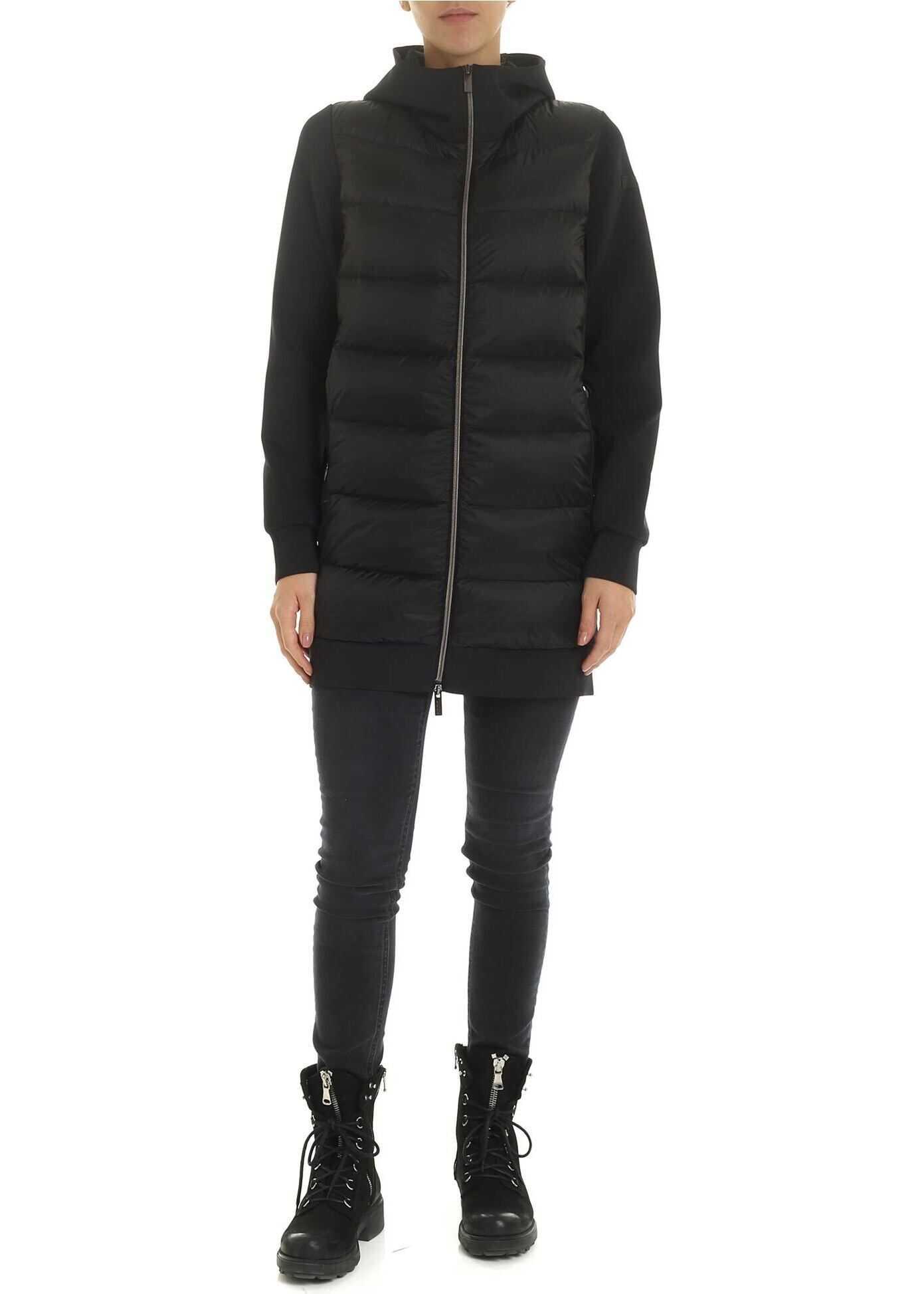 RRD Roberto Ricci Designs Black Hoodie With Padded Insert Black