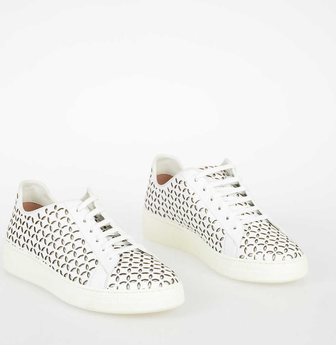 Alaïa Embroiderd Sneakers WHITE