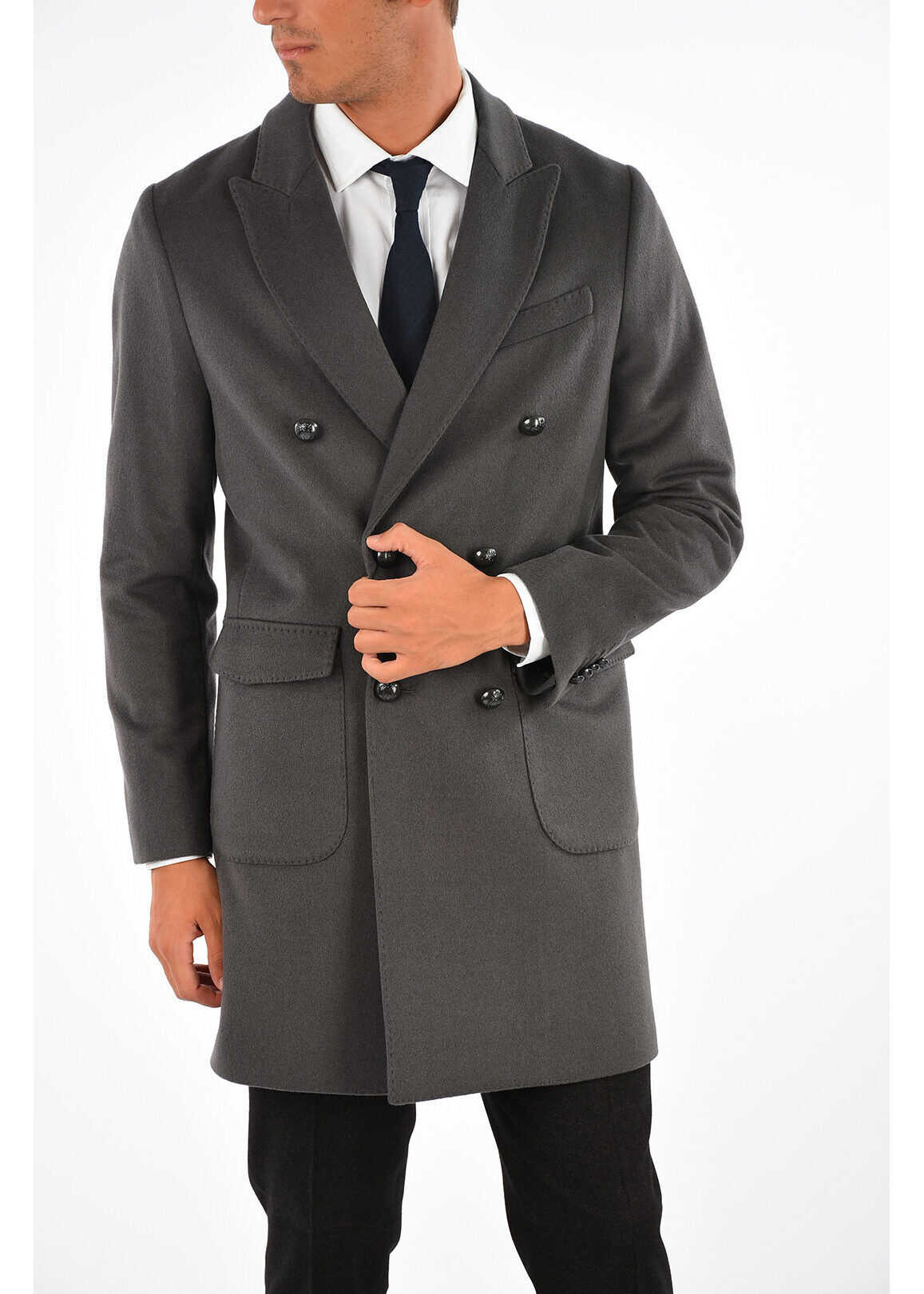 CORNELIANI CC COLLECTION Wool Blend Coat O.WEAR GRAY