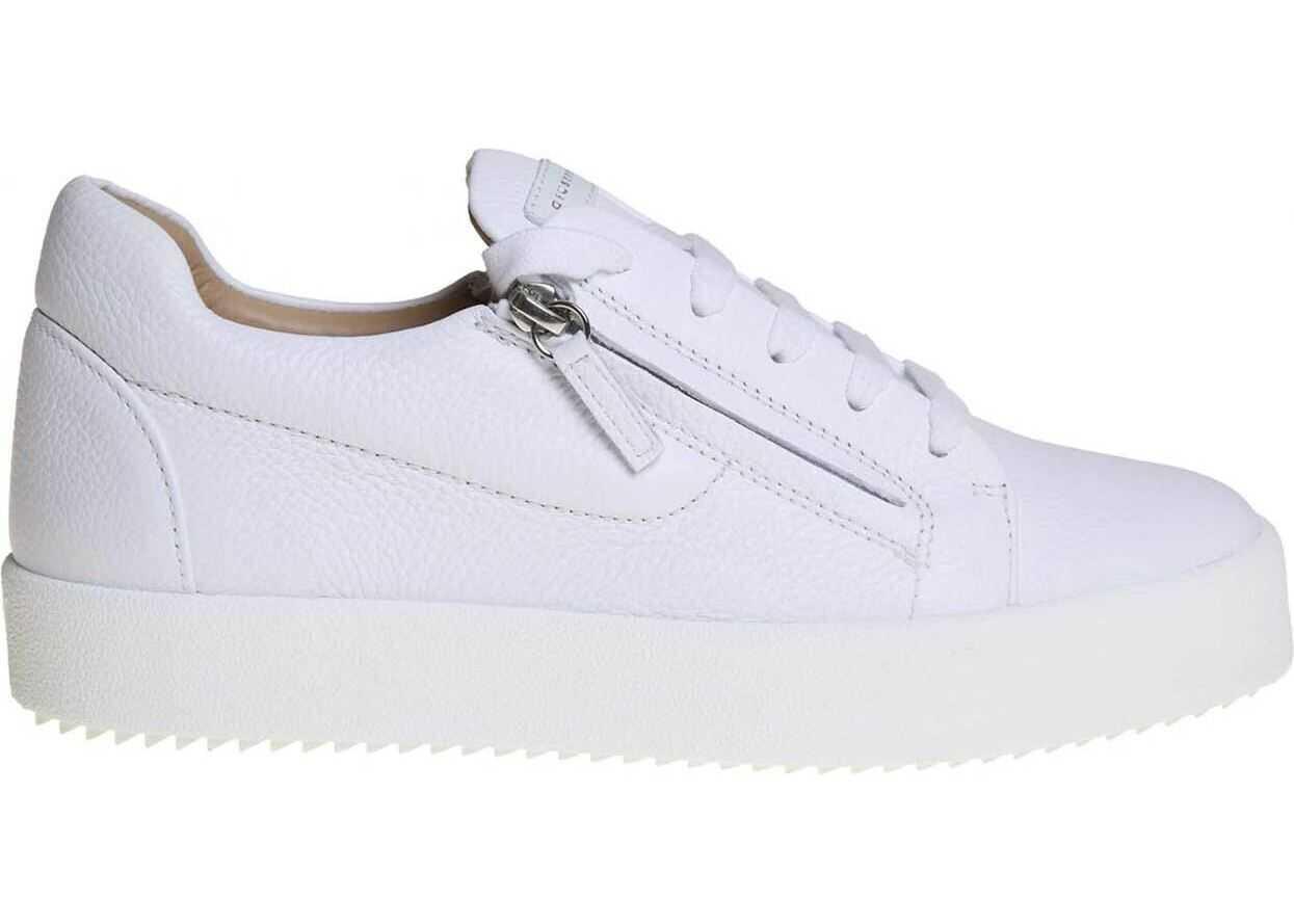 Giuseppe Zanotti May Sneakers In White Nappa Leather White