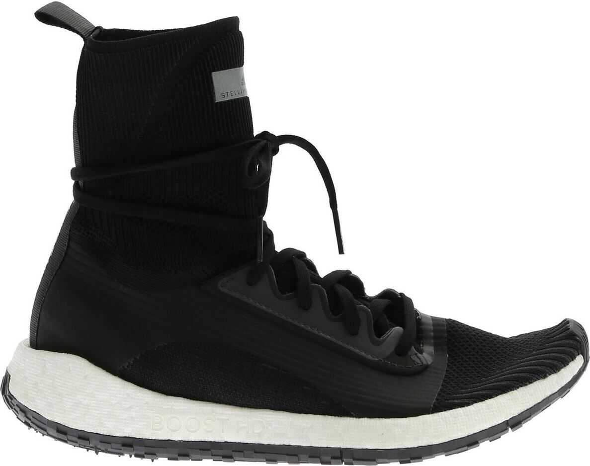 adidas by Stella McCartney Pulseboost Hd Mid Sneakers In Black Black
