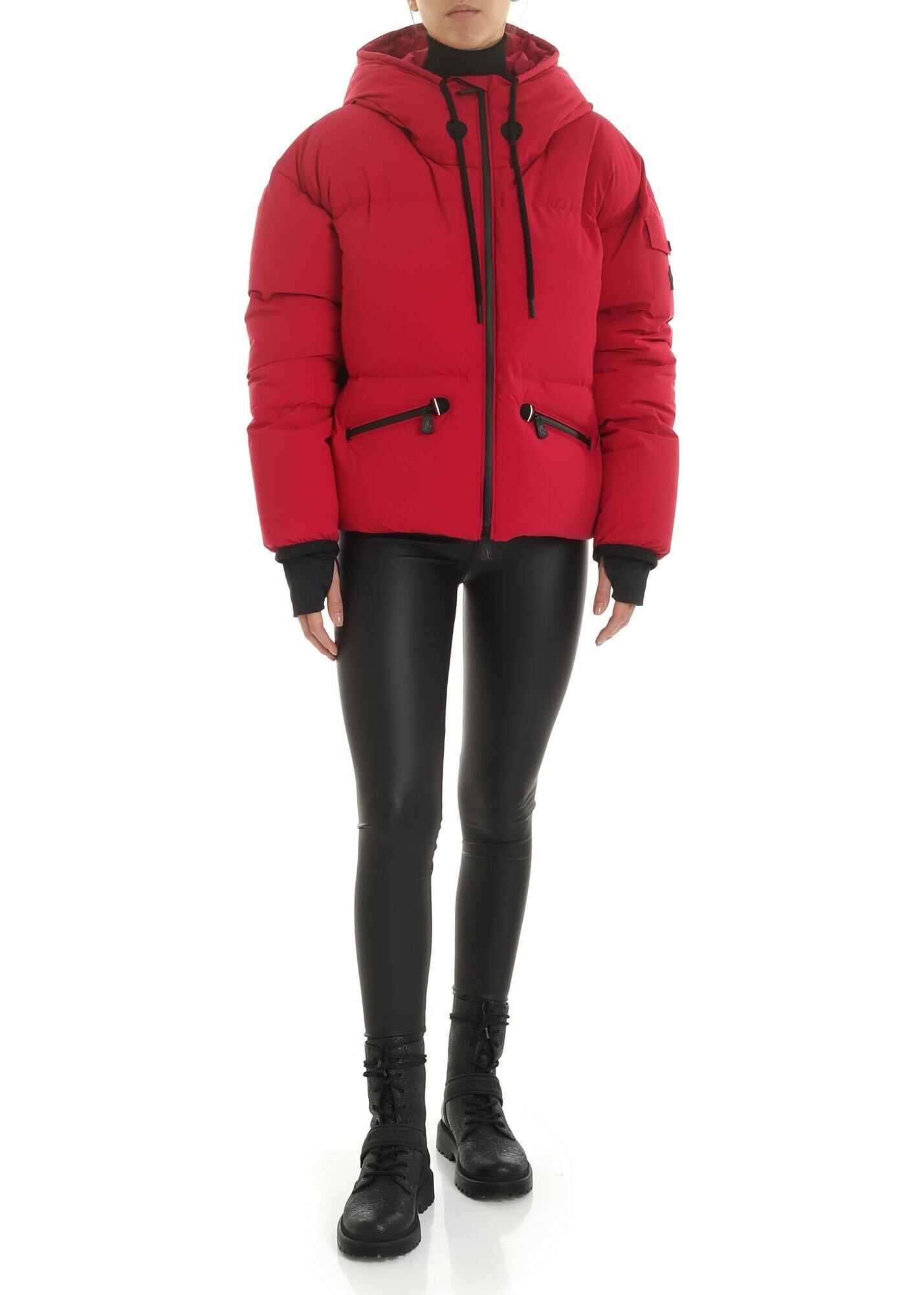 Moncler Grenoble Airy Down Jacket In Magenta Color Red