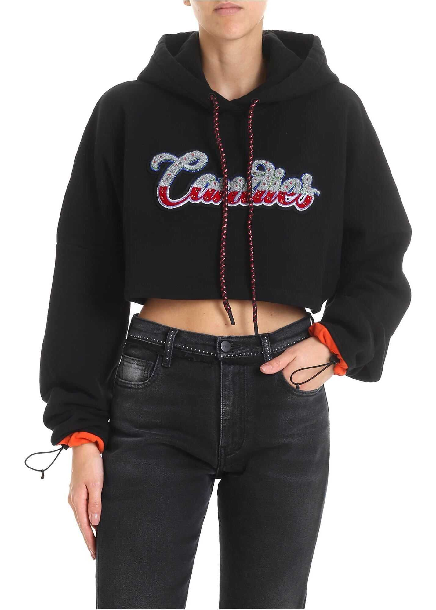 Canadies Crop Sweatshirt In Black thumbnail