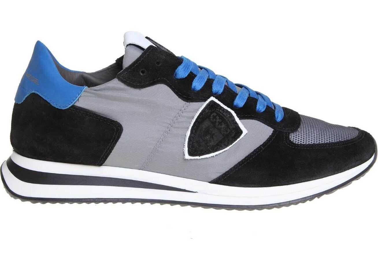 Philippe Model Trpx Sneakers In Black And Gray Black