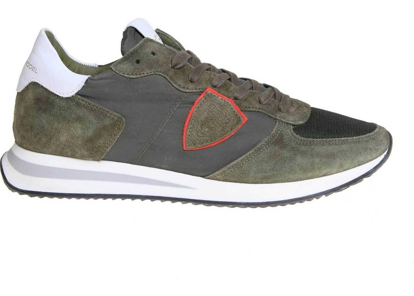 Philippe Model Trpx Sneakers In Army Green Green