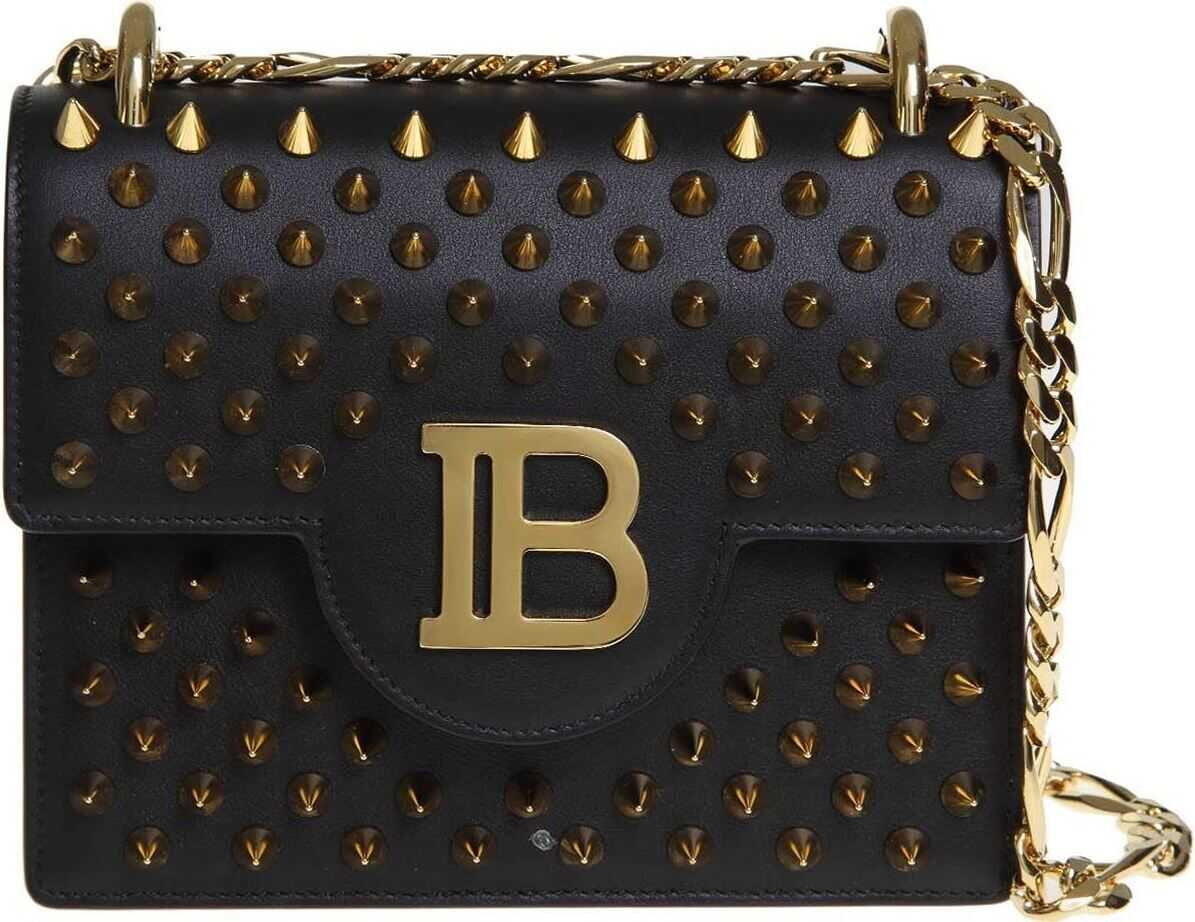 Balmain B-Bag 18 Shoulder Bag In Black Black