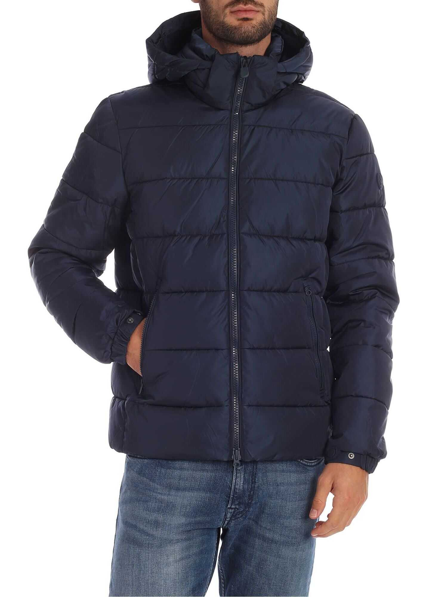Save the Duck Down Jacket In Blue With Plumtech Padding Blue imagine