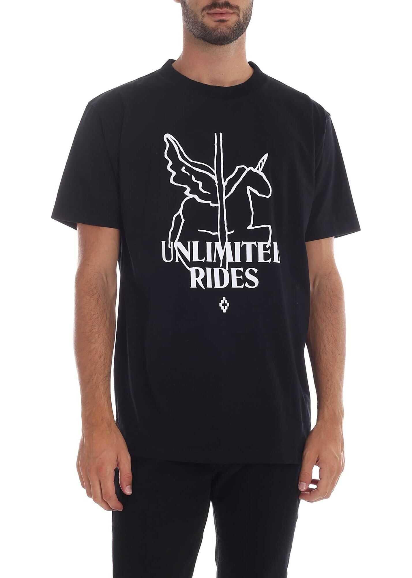 Ride Heart Wings T-Shirt In Black thumbnail