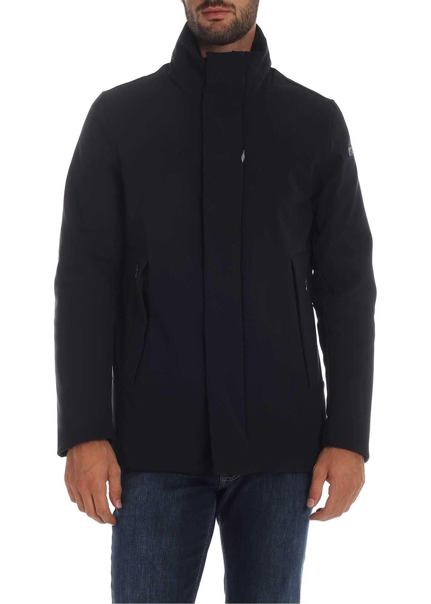 RRD Roberto Ricci Designs Winter Crew Down Jacket In Blue Blue