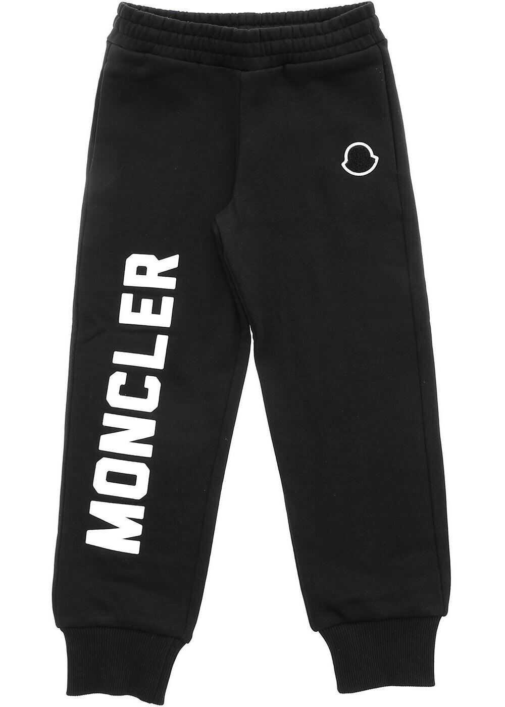 Moncler Kids Black Fleece Trousers Black
