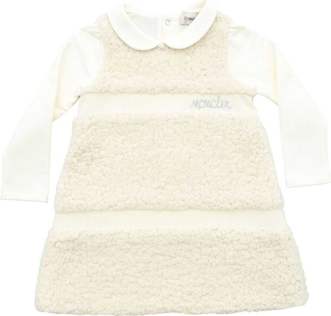 Teddy Effect Dress In Ivory Color thumbnail
