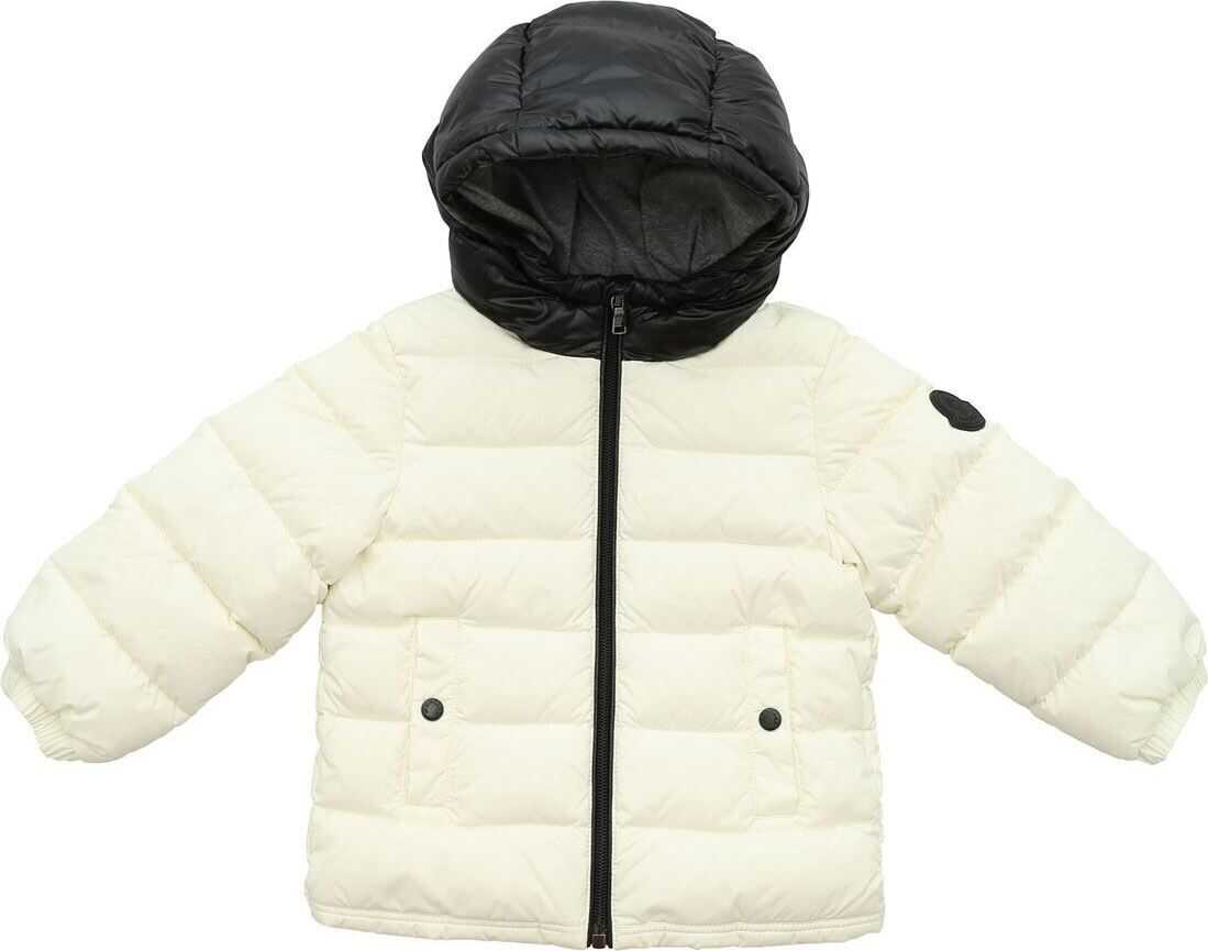 Lourmarin Down Jacket In Cream And Black thumbnail