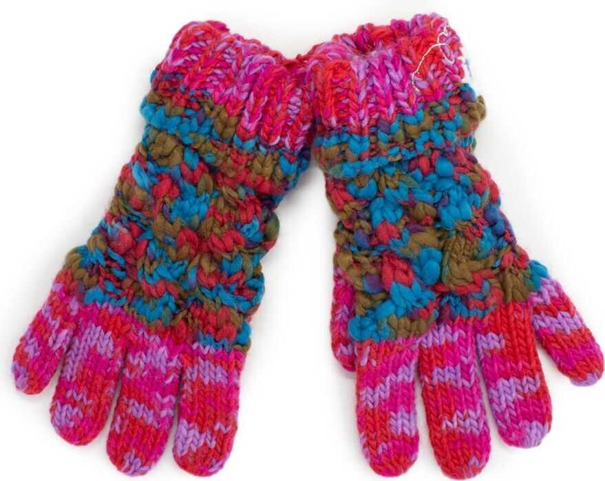 Desigual Acrylic Gloves RED