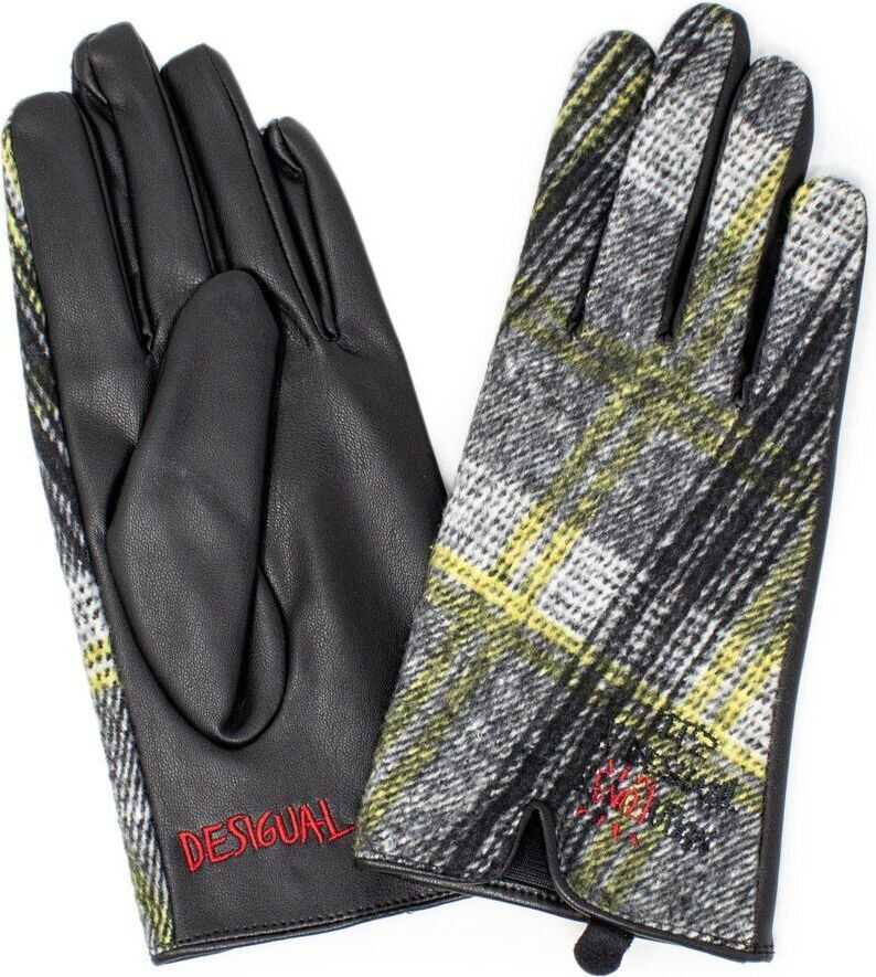Desigual Polyester Gloves BLACK