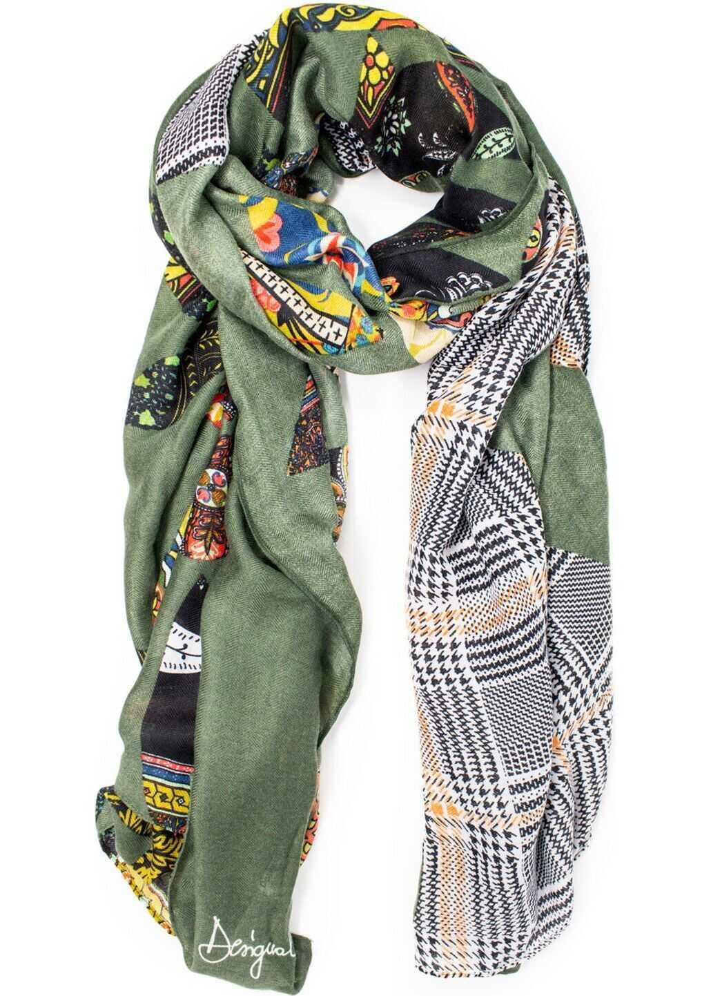 Desigual Polyester Foulard GREEN