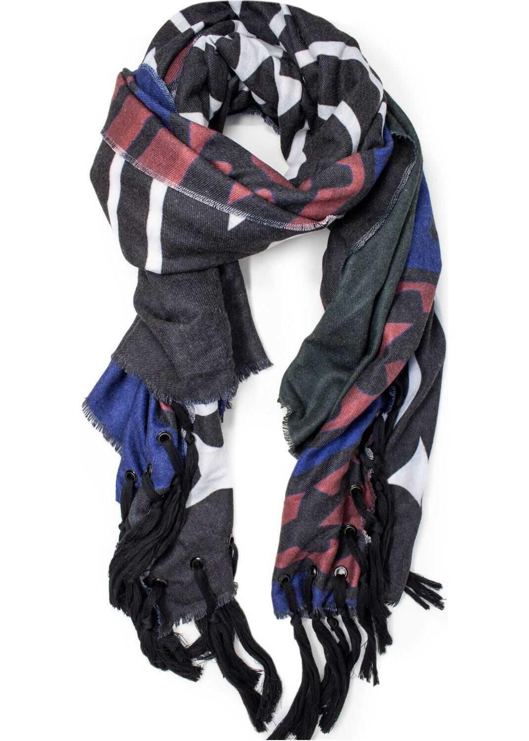 Desigual Polyester Foulard BLACK