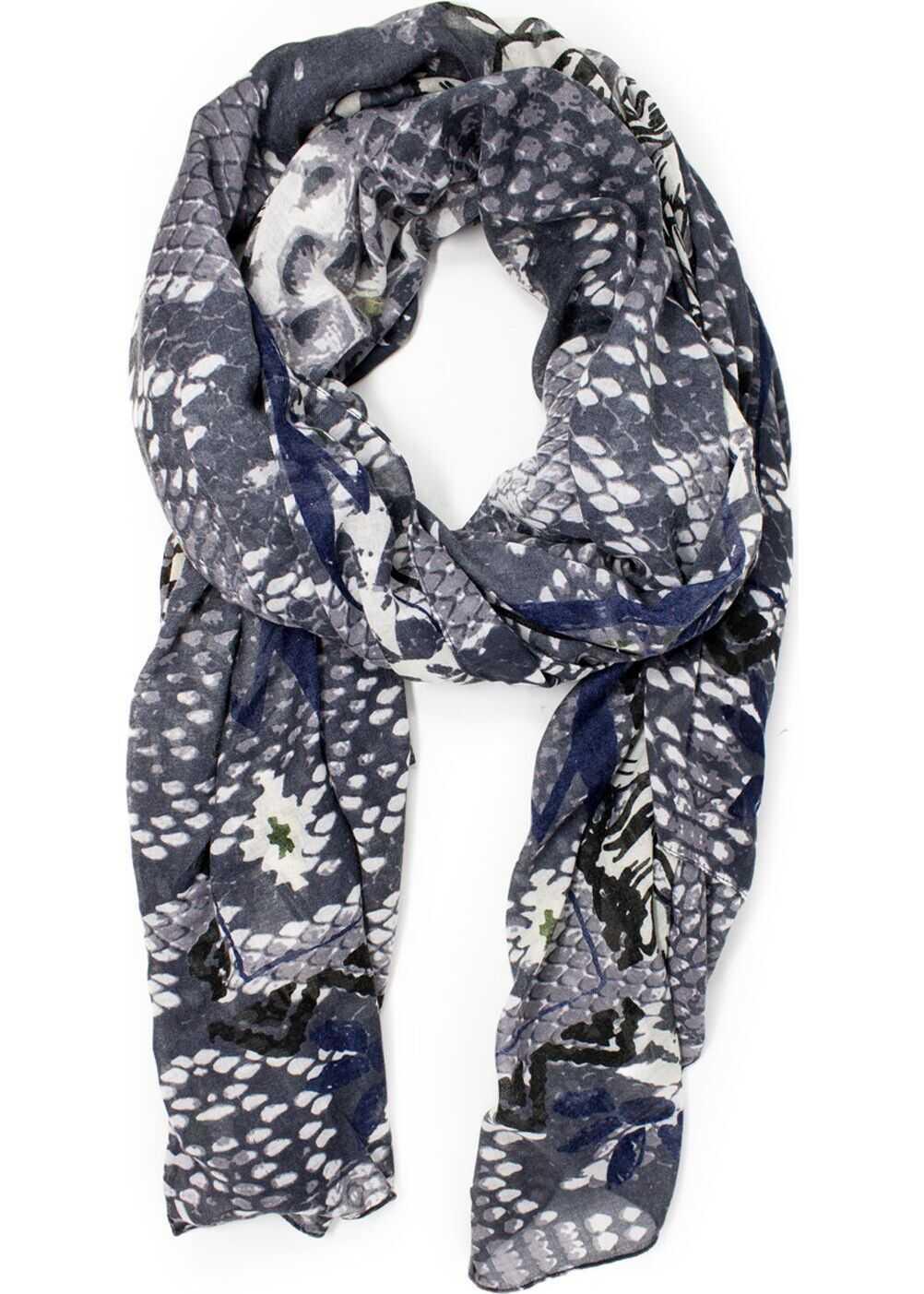 Desigual Polyester Foulard GREY