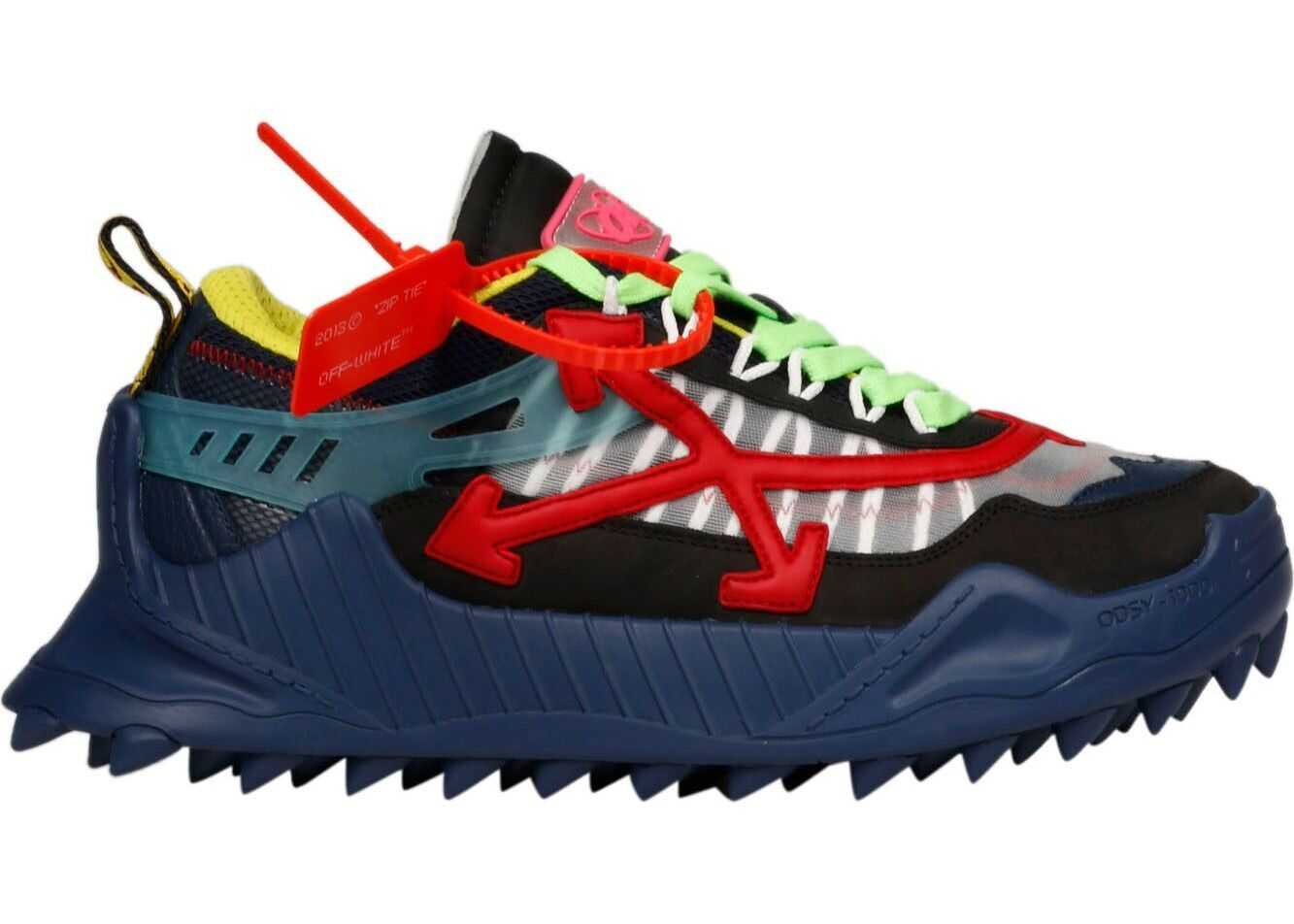 Off-White Polyester Sneakers BLUE