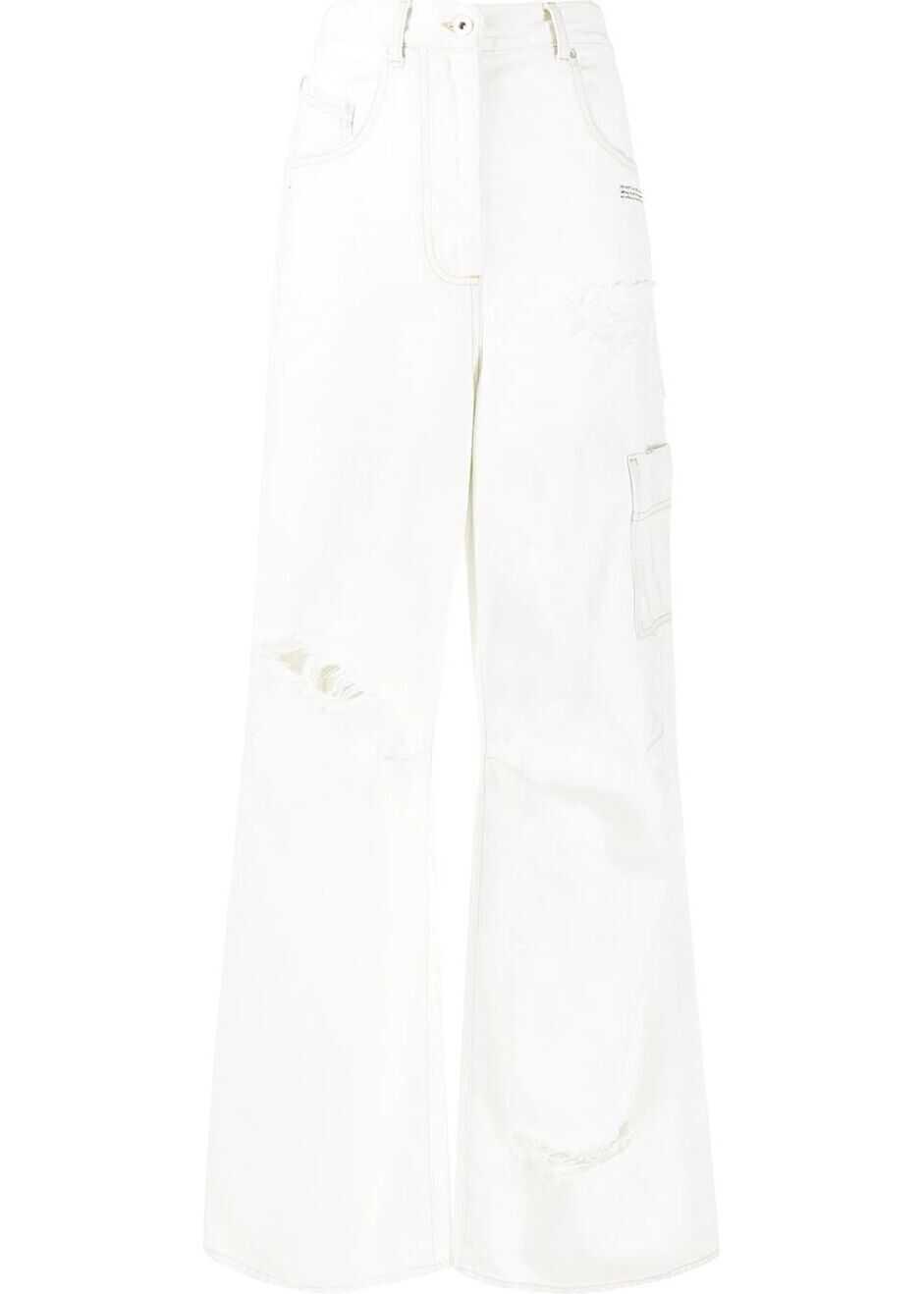 Off-White Cotton Jeans WHITE