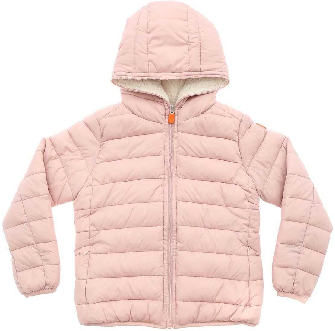 Pink Down Jacket With Fleece Lining thumbnail